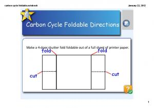 Carbon Cycle Foldable Directions