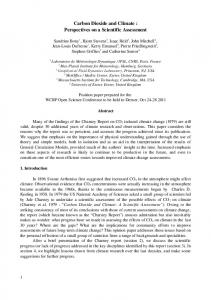 Carbon Dioxide and Climate : Perspectives on a Scientific Assessment