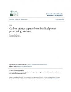 Carbon dioxide capture from fossil fuel power plants using dolomite