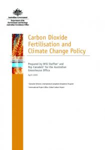 Carbon Dioxide Fertilisation and Climate Change Policy
