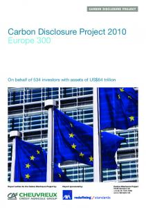 Carbon Disclosure Project 2010 Europe 300