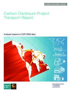 Carbon Disclosure Project Transport Report