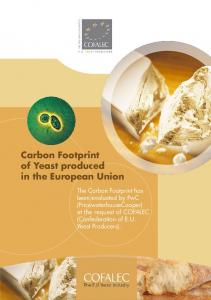 Carbon Footprint of Yeast produced in the European Union