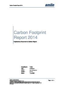 Carbon Footprint Report 2014