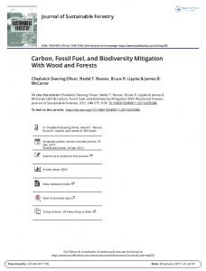 Carbon, Fossil Fuel, and Biodiversity Mitigation With Wood and Forests
