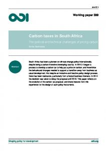 Carbon taxes in South Africa