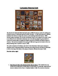 Carbondale Historical Quilt