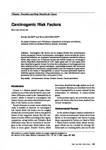 Carcinogenic Risk Factors