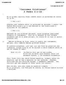 Carcomas Cristianas 2 Pedro 2:1-22