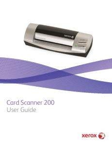 Card Scanner 200 User Guide
