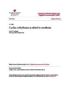 Cardiac arrhythmias as related to anesthesia