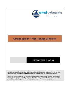 Cardiac Epsilon TM High-Voltage Generator