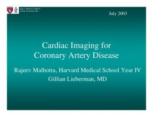 Cardiac Imaging for Coronary Artery Disease