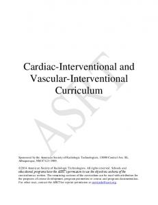 Cardiac-Interventional and Vascular-Interventional Curriculum