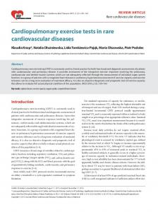Cardiopulmonary exercise tests in rare cardiovascular diseases