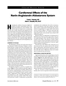 Cardiorenal Effects of the Renin-Angiotensin-Aldosterone System