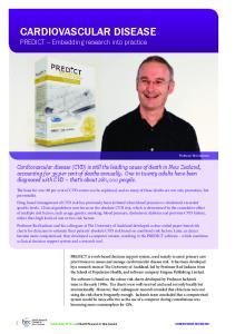 CARDIOVASCULAR DISEASE PREDICT Embedding research into practice