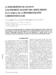 CARDIOVASCULAR. LA SEXUALIDAD DEL PAClENTE CON INFARTO AGUDO DEL MlOCARDlO EN EL MARCO DE LA REHABILITACION