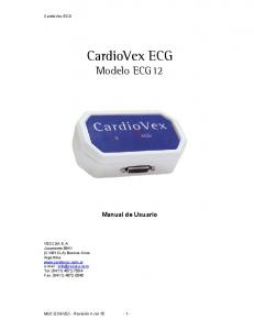 CardioVex ECG Modelo ECG12