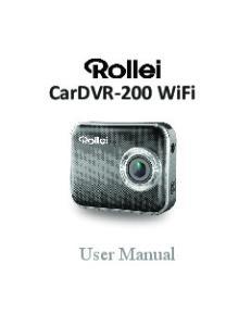 CarDVR-200 WiFi. User Manual