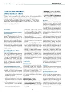 Care and Resuscitation of the Newborn Infant