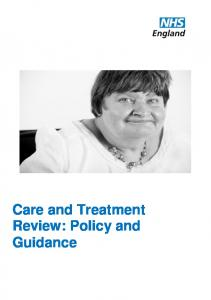 Care and Treatment Review: Policy and Guidance
