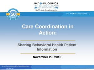 Care Coordination in Action: