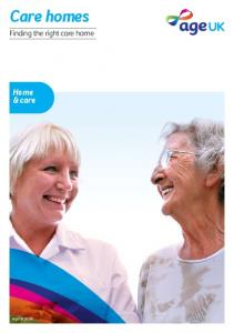 Care homes. Home & care. Finding the right care home. AgeUKIG06