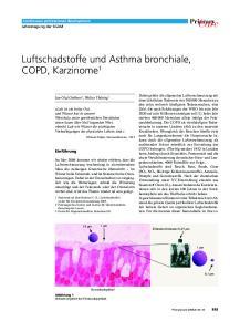 Care. Luftschadstoffe und Asthma bronchiale, COPD, Karzinome 1. Primary. Continuous professional development Jahrestagung der SGAM