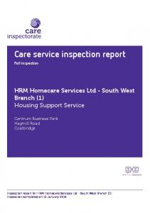 Care service inspection report