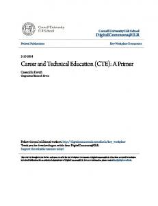 Career and Technical Education (CTE): A Primer