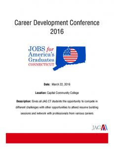 Career Development Conference 2016