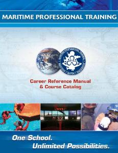Career Reference Manual & Course Catalog