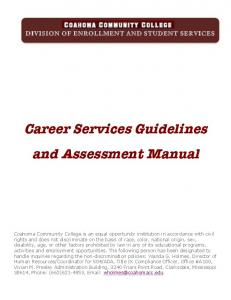 Career Services Guidelines and Assessment Manual
