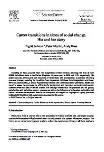 Career transitions in times of social change. His and her story