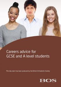 Careers advice for GCSE and A level students