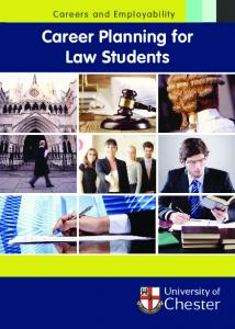 Careers and Employability. Career Planning for Law Students