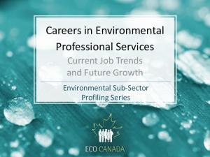 Careers in Environmental Professional Services
