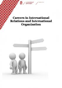 Careers in International Relations and International Organization