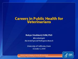 Careers in Public Health for Veterinarians