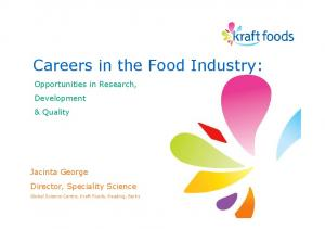 Careers in the Food Industry: