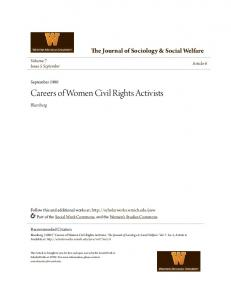 Careers of Women Civil Rights Activists