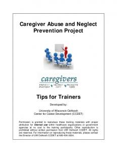 Caregiver Abuse and Neglect Prevention Project