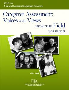 Caregiver Assessment: Voices AND Views