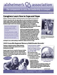 Caregivers Learn How to Cope and Hope Spring Caring & Coping Training Seminar Sees Highest Turnout Ever