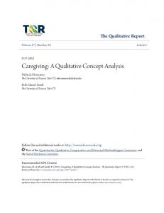 Caregiving: A Qualitative Concept Analysis