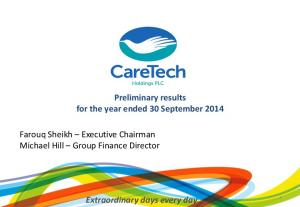 CareTech Holdings PLC Preliminary Results