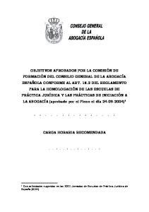 CARGA HORARIA RECOMENDADA