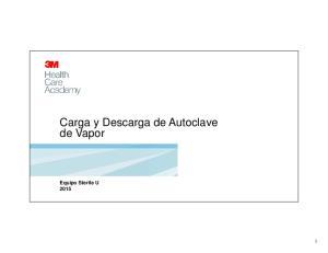 Carga y Descarga de Autoclave de Vapor. Equipo Sterile U 2015