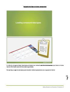 Cargando los tipos de datos compuestos